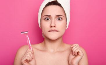 irritação na pele após depilação com lâmina